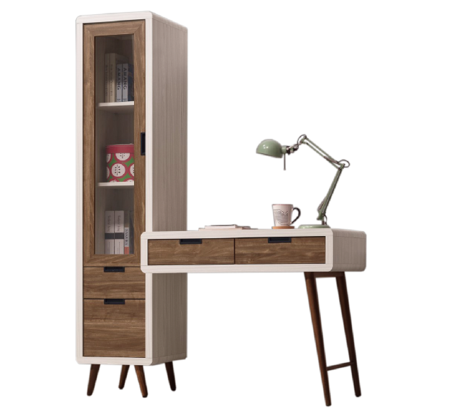 北歐時尚4.3尺L型書桌 1