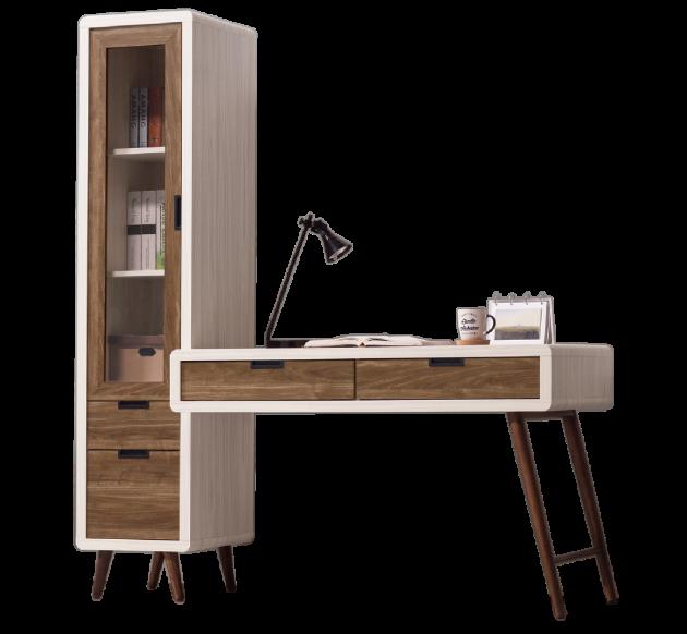 北歐時尚5.3尺L型書桌 1