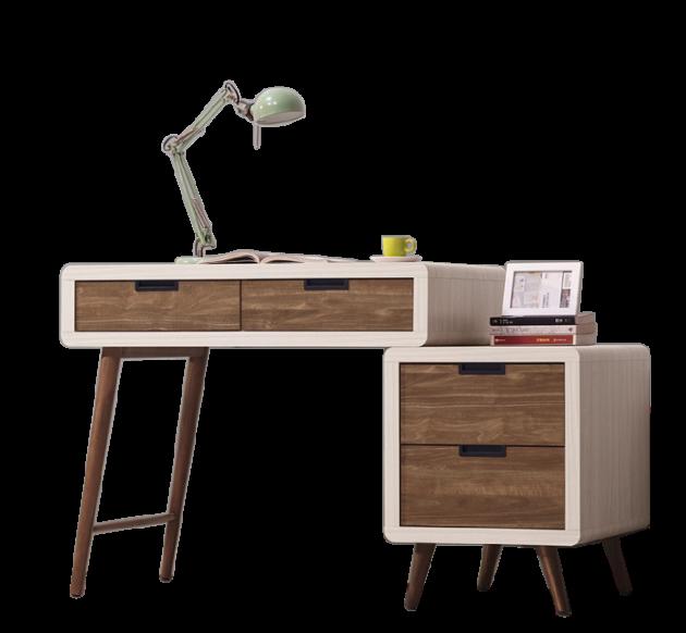 北歐時尚3尺伸縮書桌 1
