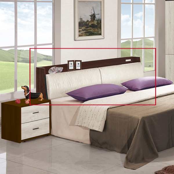 白森林房間組-五尺床頭 1