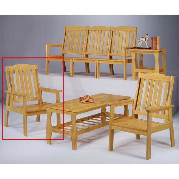 本色單面雙扶手椅 1