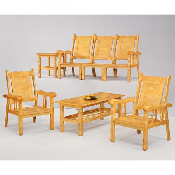 本色福樂實木組椅(整組) 1