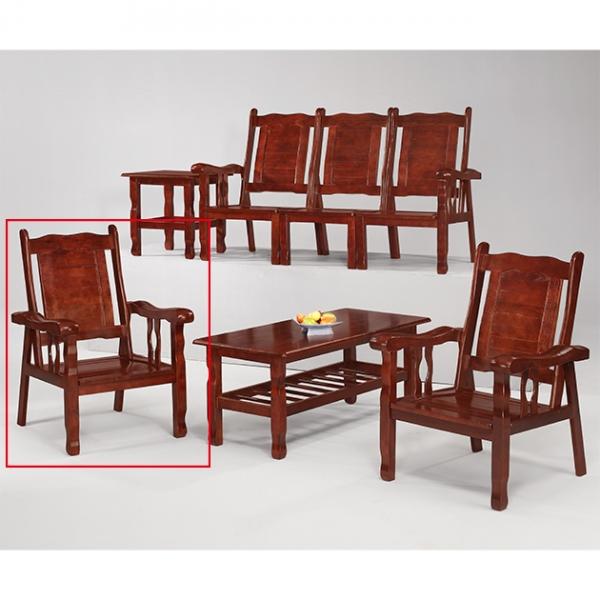 胡桃色福樂雙扶手椅 1