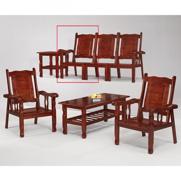 胡桃色福樂左扶手椅 1
