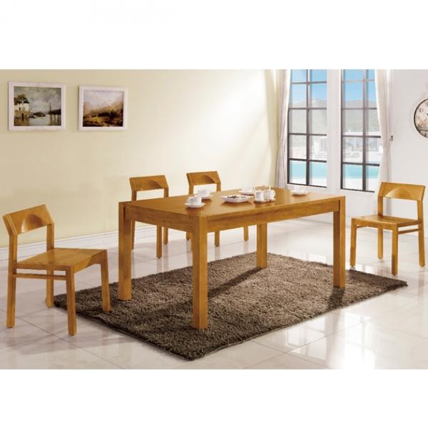 捷克餐桌樟木色-不含椅 1