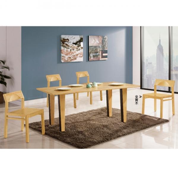 妮可餐桌松木色-不含椅 1