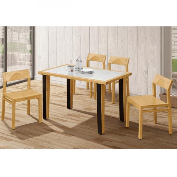 米蘭松木4.3尺餐桌-不含椅 1