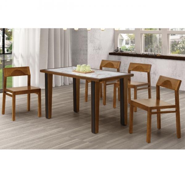 米蘭胡桃色4.3尺餐桌-不含椅 1