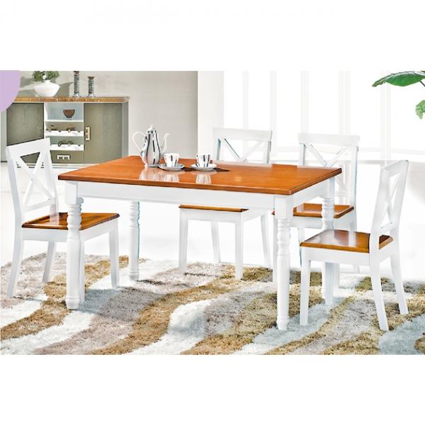 T6096實木餐桌-不含椅 1