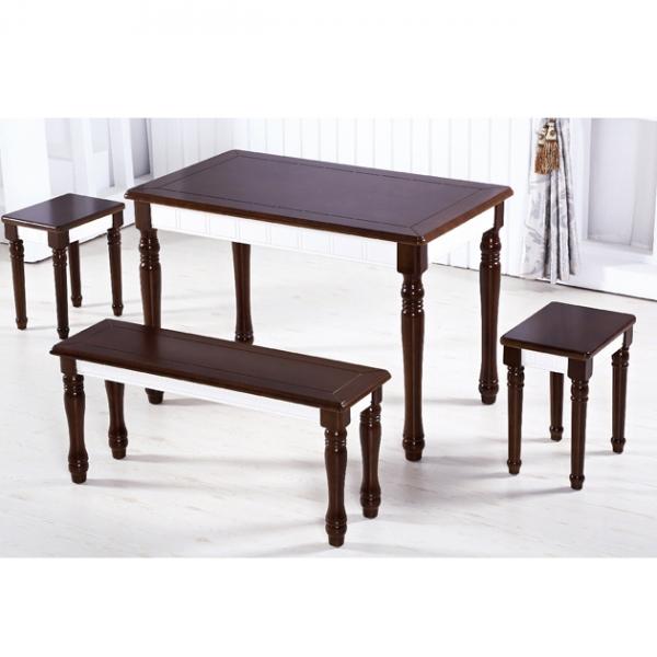F73橡膠木實木餐桌-不含椅 1