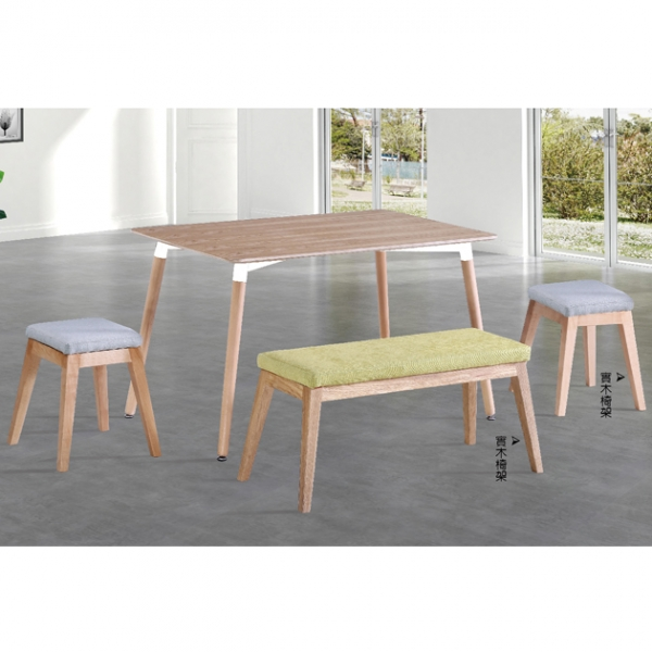 Z-207原木紋餐桌-不含椅 1