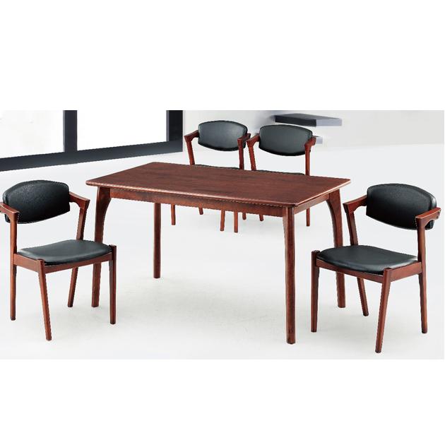 S610胡桃色橡膠木實木餐桌-不含椅 1