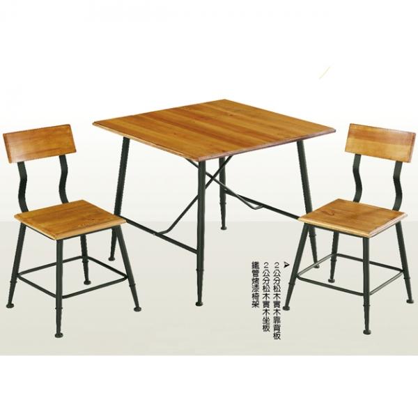 80松木方桌餐桌-不含椅 1