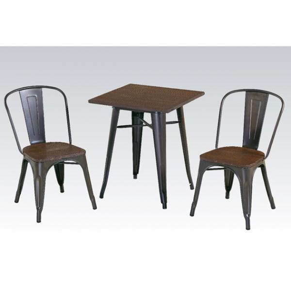 銹色老榆木方桌-不含椅 1