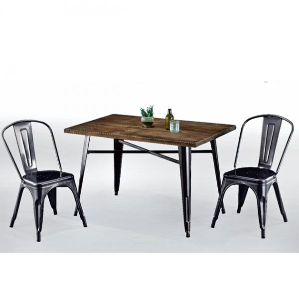 006黑色鐵皮餐桌-不含椅 1