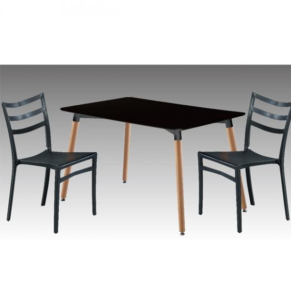 Z-207板面餐桌(黑)-不含椅 1