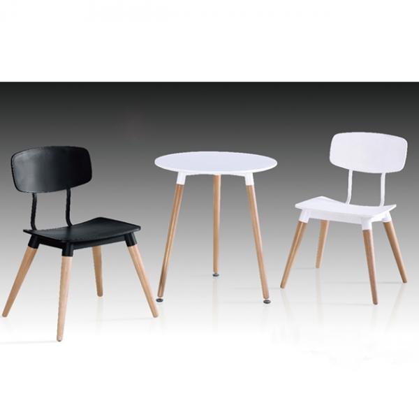 Z-211板面圓桌餐桌(白)-不含椅 1