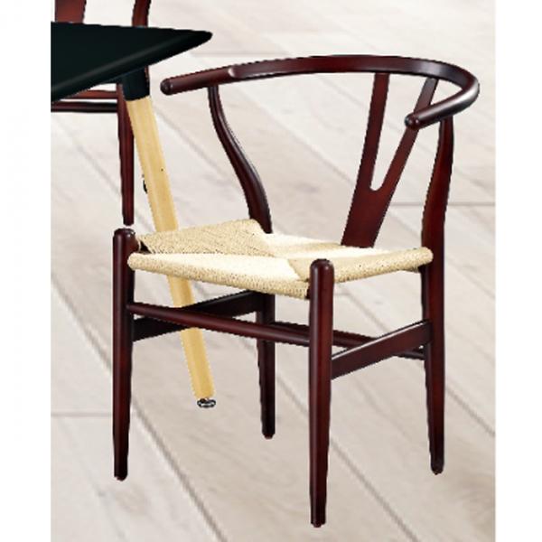 W102櫸木藤編餐椅(胡桃色) 1