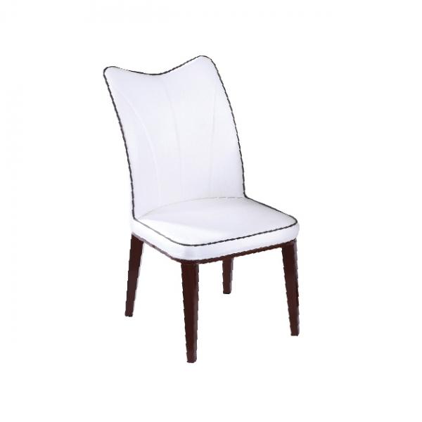 113餐椅(米色皮) 1
