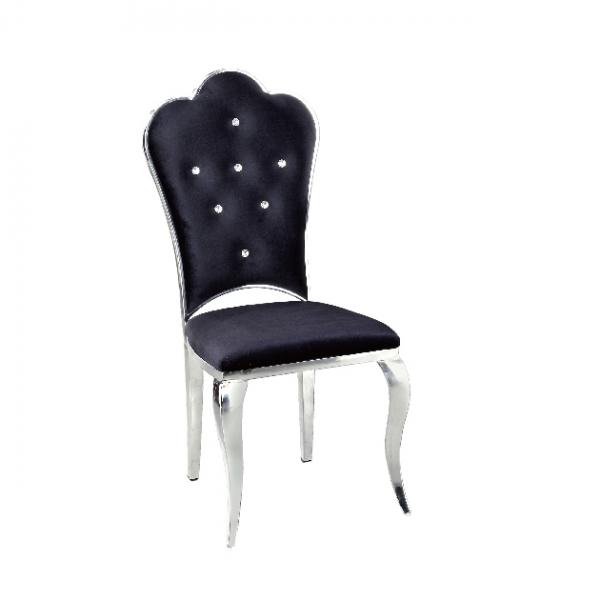 B7絨布餐椅(黑色) 1