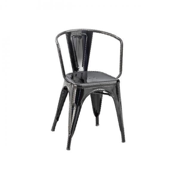 D-8鐵皮餐椅(黑色) 1
