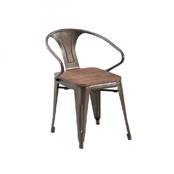 D-9鐵皮餐椅(銹色老榆木) 1