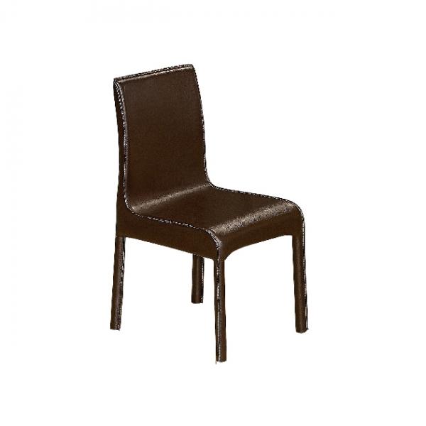 D05馬鞍皮餐椅(咖啡色) 1