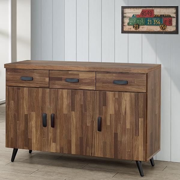 積層木4尺碗盤餐櫃 1