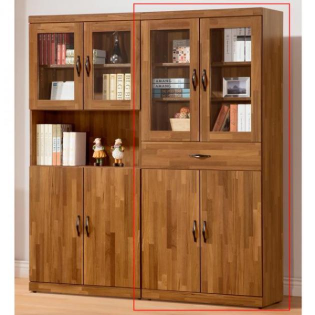 積層木3*6尺中抽四門書櫃 1