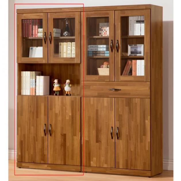 積層木3*6尺四門書櫃 1