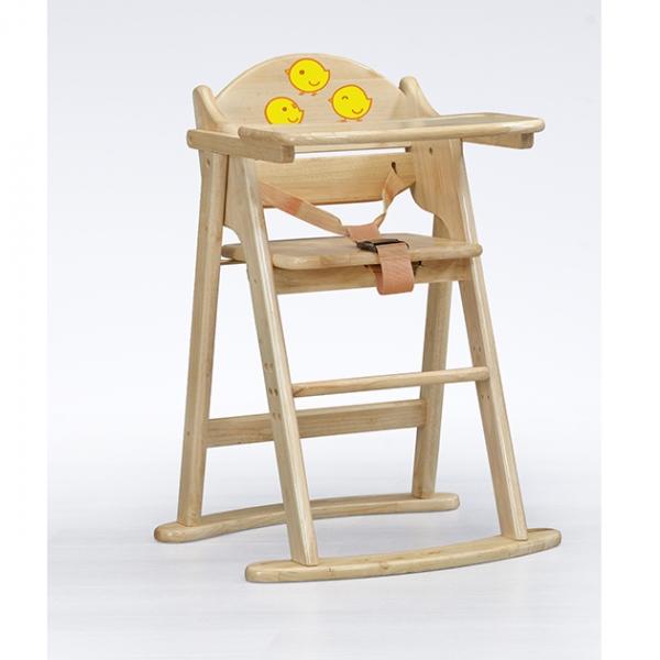 兒童用高腳椅A型(金雞)-本色 1