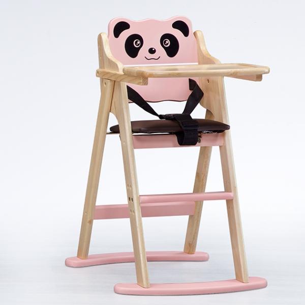 兒童用高腳椅A型(熊貓)-本色 1