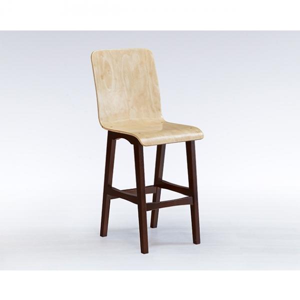 曲木高背腳椅 1