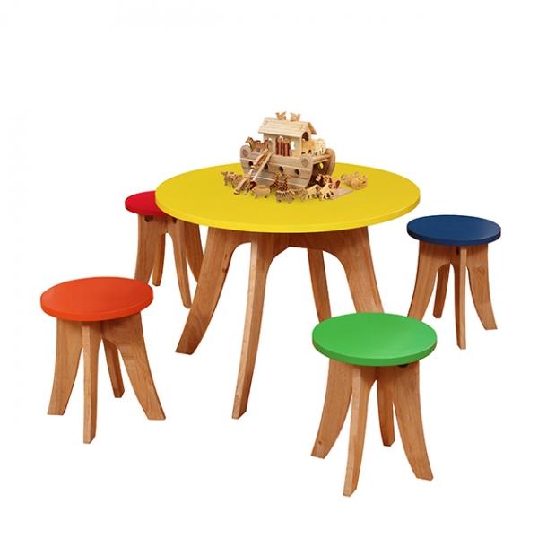 五彩繽紛彩色餐桌椅組(一桌四椅,恕不拆賣) 1